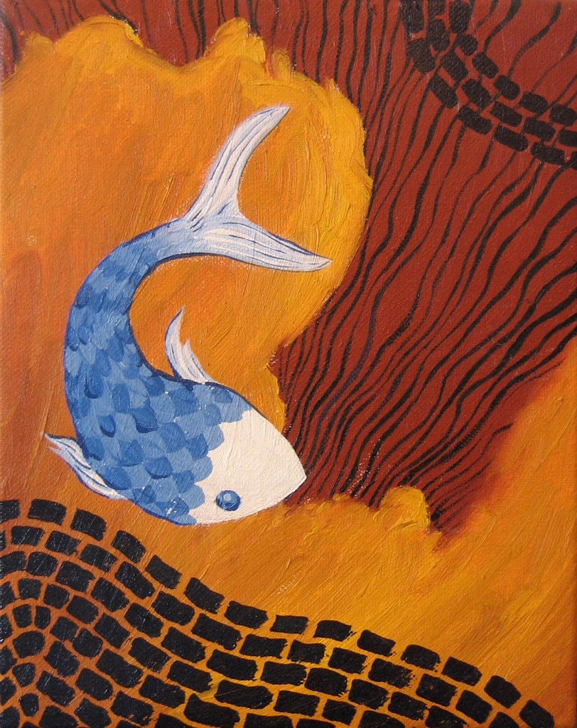 Fish Clouds painting by Steph Toth Kates