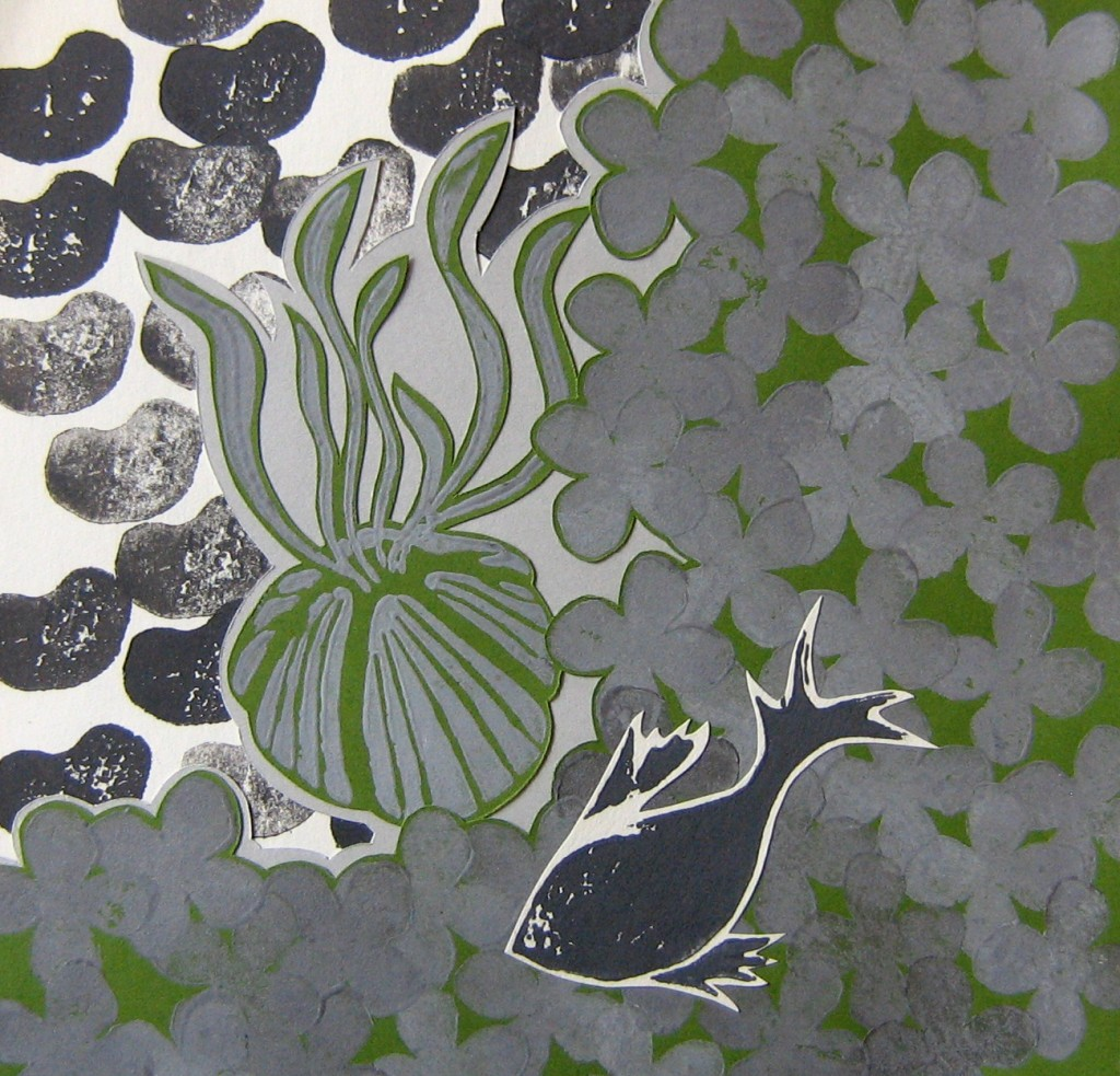 Barnacle Fish Clover Print Collage by Steph Toth Kates