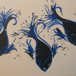 3 Fish Print Collage by Steph Toth Kates