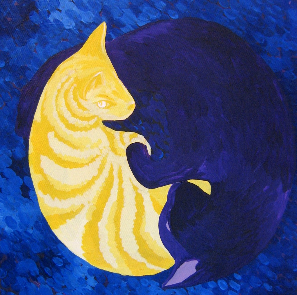 cat circle painting by Steph Toth Kates